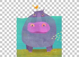 猪卡通,猪,洋红色,紫罗兰,纺织品,儿童艺术,毛绒玩具,紫色,粉红色