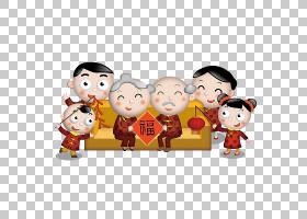 农历新年海报,幸福,友谊,儿童,玩,材料,节日,海报,中国新年,剪纸,