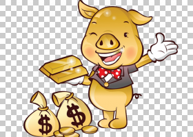 存钱罐,幸福,黄色,食物,硬币,金币,钱,银行,动画片,中国的十二生