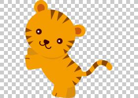 丛林背景,动画片,猫,桔黄色的,狮子,黄色,胡须,动物形象,文档,狩