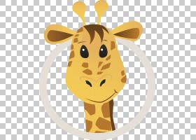 儿童卡通,鼻子,黄色,脖子,头,长颈鹿科,长颈鹿,幽默,儿童,动画,绘图片