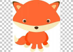 卡通动物,鼻子,猫,动画片,线路,红色,桔黄色的,红狐,动物,狐狸,林图片