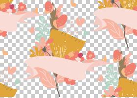 水彩花卉无缝图案背景png (113)
