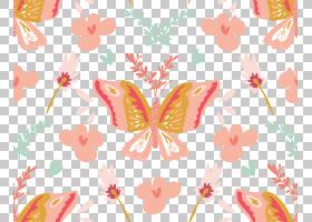 水彩花卉无缝图案背景png (115)