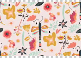 水彩花卉无缝图案背景png (117)