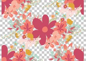 水彩花卉无缝图案背景png (118)