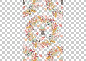 水彩花卉无缝图案背景png (119)