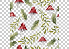 水彩花卉无缝图案背景png (124)