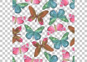 水彩花卉无缝图案背景png (131)