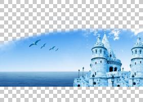土耳其卡通,水,天空,蓝色,浪漫故事,海报,旅游景点,山水画,旅游业