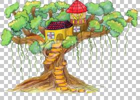 水彩树,木本植物,种,漫画,水彩画,油画,绘画,树,动画片,绘画艺术,