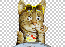 小猫卡通,插画家协会,画布,油画漆,壁画,油画,艺术家,绘画,猫,小