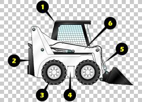 毛毛虫卡通,硬件,线路,技术,车辆,黄色,机器,反铲装载机,连续轨道