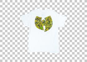 熄灭白色徽标,顶部,外衣,T恤衫,黄色,服装,白色,绿色,RZA,鬼脸基