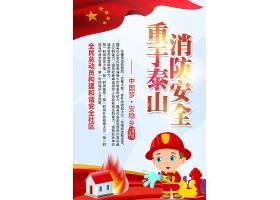 创意全名消防宣传知识创意海报设计素材