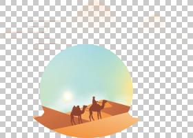 天空背景,圆,桔黄色的,天空,正方形,CDR,模板,丝绸之路,底座,骆驼
