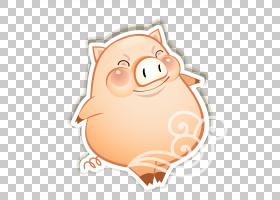 猪卡通,贴纸,鼻部,鼻子,猪,中国的十二生肖,CDR,动画片,野猪,