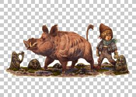 猪卡通,野猪,猪,绘图,野生动物,动物,狩猎,游戏,