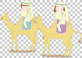 长颈鹿卡通,长颈鹿,阿拉伯骆驼,黄色,骆驼般的哺乳动物,长颈鹿科,