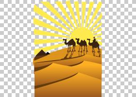 天空背景,动画片,线路,黄色,天空,骆驼般的哺乳动物,文本,剪影,日