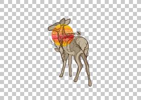像哺乳动物一样的鹿骆驼,骆驼般的哺乳动物,骆驼,马,鹿,