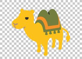 心形表情符号背景,动物形象,阿拉伯骆驼,鼻部,黄色,骆驼般的哺乳