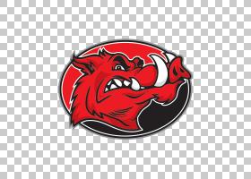 美式足球背景,会徽,符号,徽标,红色,阿肯色州Razorback,野猪,猪,