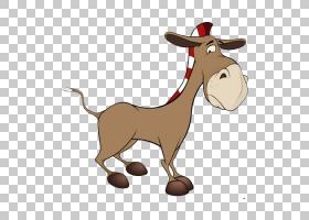 驴子卡通,山羊,喇叭,巨足鱼科,动物形象,尾巴,野生动物,鹿,骆驼般