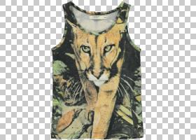 老虎卡通,外衣,脖子,T恤衫,野生动物,袜子,无袖衬衫,连体裤,紧身