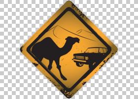 黄色背景,黄色,横幅,毛毯,剪影,动物,骆驼,
