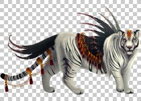 猫卡通,动物形象,尾巴,野生动物,佩剑,方,猛犸象,孟加拉虎,灭绝,