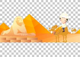 派对帽子卡通,黄色,派对帽,埃及,海报,金字塔,旅游业,旅行,埃及金