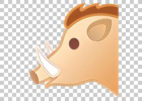 表情符号绘画,耳朵,鼻子,猪,剪影,表情符号,鼻部,绘图,野猪,动画