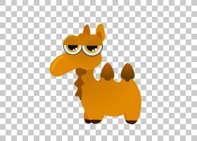 橙色背景,桔黄色的,黄色,骆驼般的哺乳动物,动画,绘图,动画片,骆