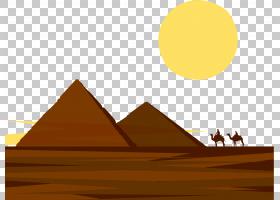 背景天空,线路,角度,黄色,天空,三角形,金字塔,平面设计,ERG,沙漠