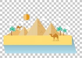 埃及金字塔,线路,图表,黄色,文本,三角形,创意,福井,金字塔,平面