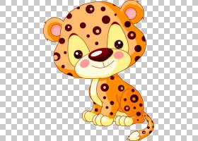 背景橙色,桔黄色的,动物形象,胡须,头,可爱,绘图,动画片,猎豹,豹