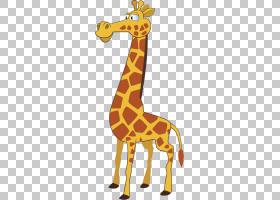 动物卡通,动物形象,尾巴,野生动物,长颈鹿科,喇叭,浮标,脖子,动物