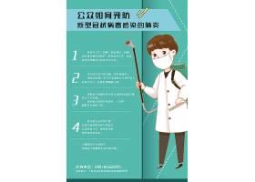 创意简约武汉加油抗击新型冠状病毒如何预防宣传海报