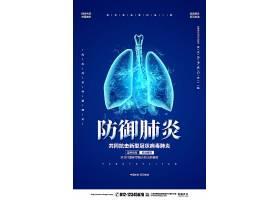 创意防御肺炎抗击新型冠状病毒战胜疫情宣传海报冠状病毒手抄报