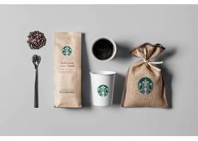星巴克咖啡品牌VI贴图样机