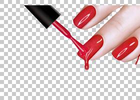 灯光卡通,化妆品,红色,指甲护理,手指,嘴唇,手,健康美容,手模型,图片