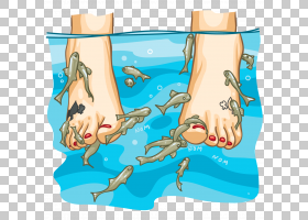 鱼卡通,娱乐活动,水上运动,手,面积,关节,加拉,脚,指甲艺术,水疗图片