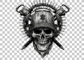 骷髅标志,黑白相间,徽标,骨架,绘图,噪声,骨头,头骨,