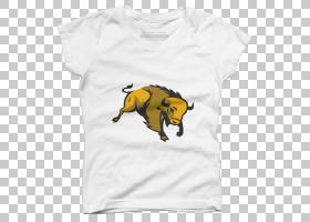 美国野牛外套,服装,白色,黑色,鼻部,黄色,T恤衫,顶部,袖子,外衣,