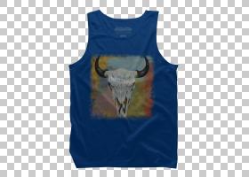 蓝色T恤,服装,T恤衫,顶部,蓝色,黄色,打印,脖子,画布,衬衫,相片印