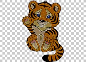 猫卡通,咆哮,野生动物,头,油画,教育部,动画片,可爱,儿童,老虎,