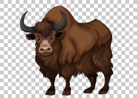山羊卡通,牲畜,鼻部,公牛,野生动物,公牛,牦牛,野牛,喇叭,套用信