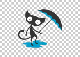 猫卡通,尾巴,动画片,文本,贴纸,猫,