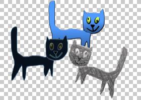 猫卡通,尾巴,性格,动画片,爪子,猫,黑猫,小猫,胡须,